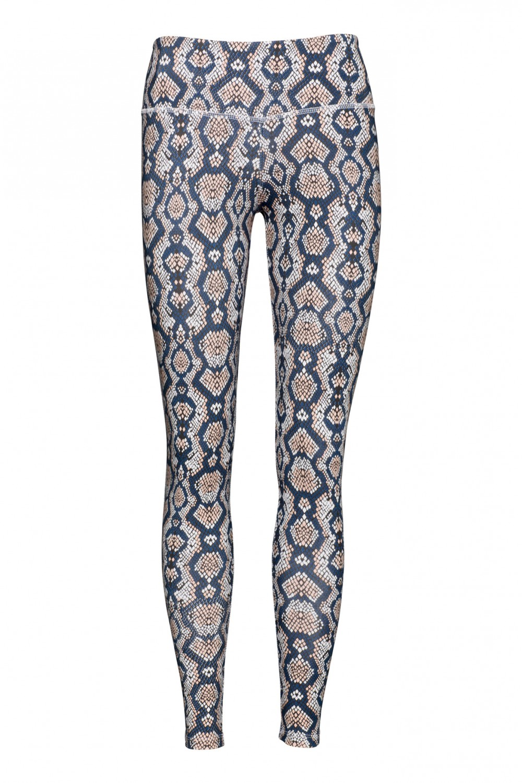 patterned yoga leggings python