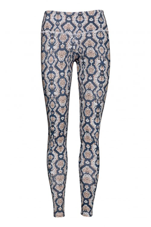 patterned yoga leggings python