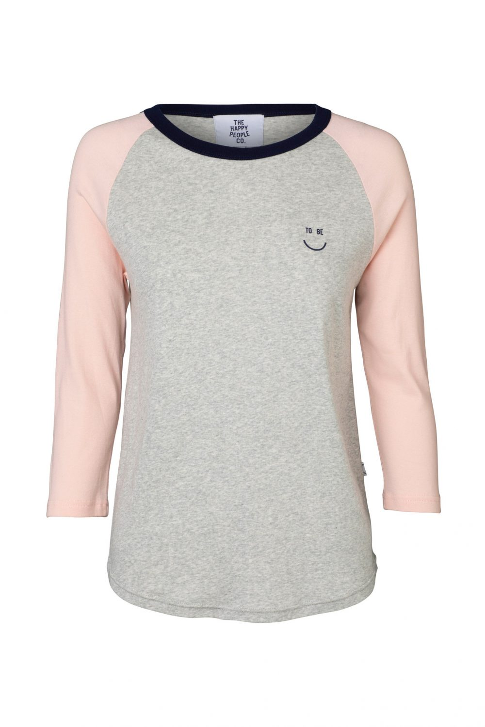 Happy Raglan Top Grey Marle