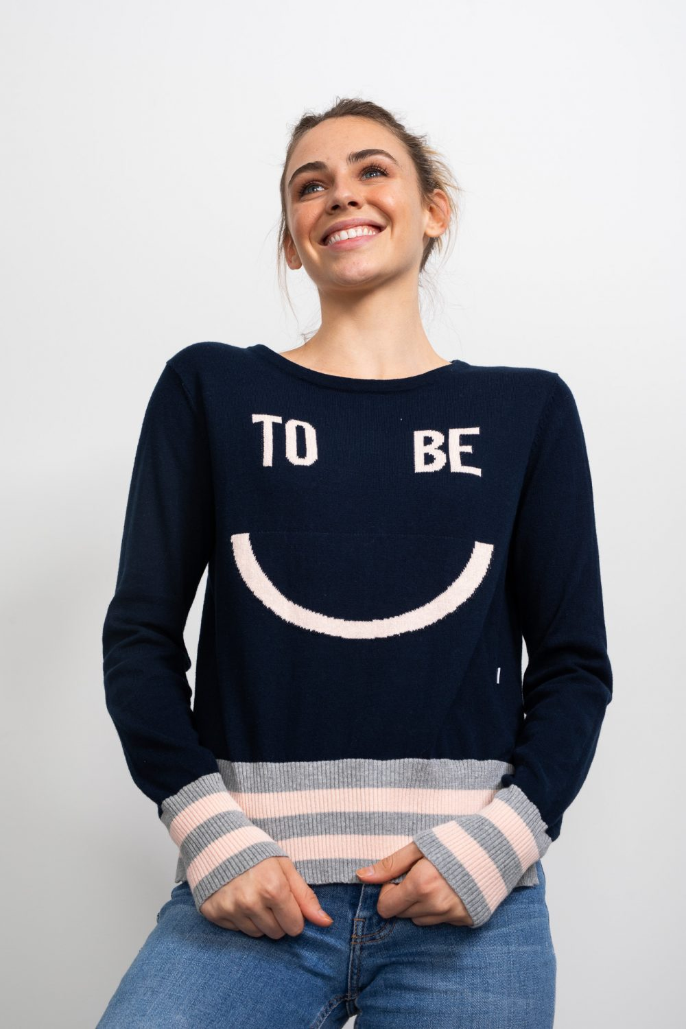 Happy Intarsia Knit Jumper