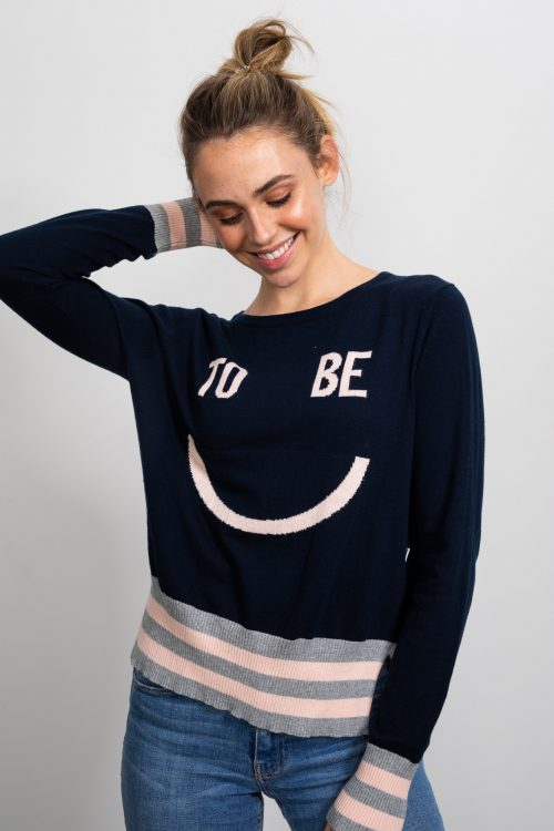 Happy Intarsia Knit Jumper