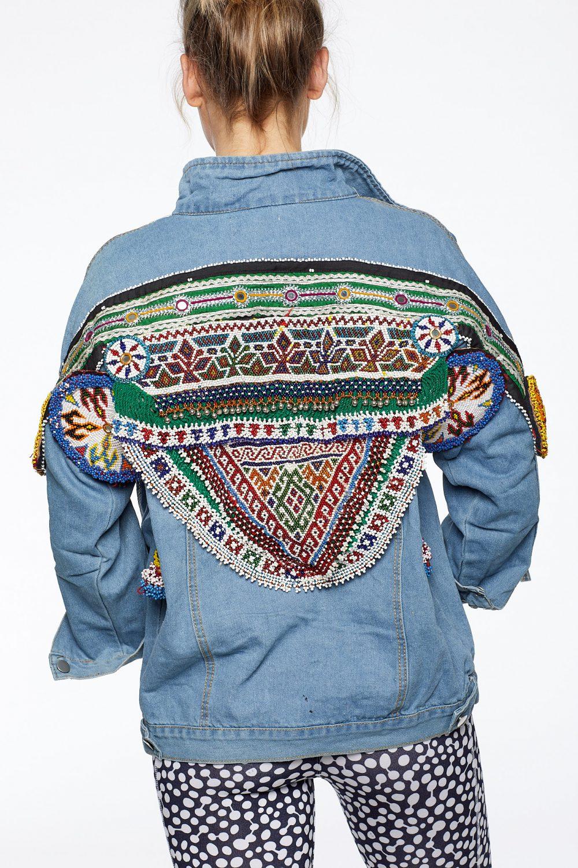 The Happy People Co Embellished Denim Jacket
