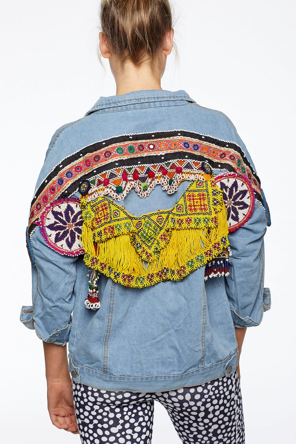 The Happy People Co Embellished Denim Jacket